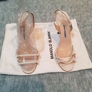 Manolo Blahnik Slingback Heels Authentic